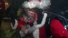 Scuba Santa making daily dives until Christmas