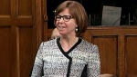 NDP MP Sheila Malcolmson in the House of Commons on Thursday, Nov. 23, 2017.