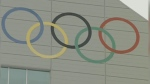 Olympic Rings on the ski jump tower at Canada Olympic Park