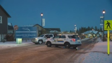 """RCMP on scene at what they are calling an """"incident"""" in Spruce Grove on Thursday, November 23, 2017."""
