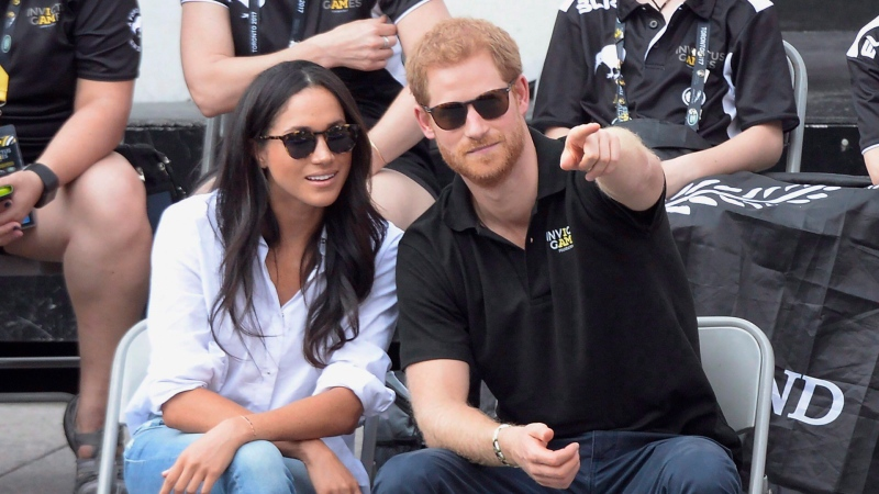 Prince Harry and his girlfriend Meghan Markleattend a wheelchair tennis event at the Invictus Games in Toronto, Sept.25, 2017. THE CANADIAN PRESS/Nathan Denette