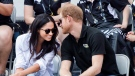 Prince Harry and his girlfriend Meghan Markle attend the wheelchair tennis competition at the Invictus Games in Toronto on Monday, September 25, 2017. This is Prince Harry's first public appearance with Markle. THE CANADIAN PRESS/Nathan Denette