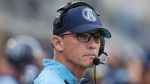 Toronto Argonauts Head Coach Marc Trestman looks on before his team kicks off first half CFL football action against the BC Lions, in Toronto on Friday, June 30, 2017. THE CANADIAN PRESS/Chris Young