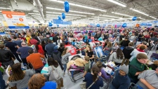 Holiday shoppers scored great deals at Walmart on Thursday, Nov. 23, 2017 in Bentonville, Ark. Color coded departments in Walmart stores helped customers locate top products across categories including electronics, toys, home, and apparel. (Gunnar Rathbun/AP for Walmart)