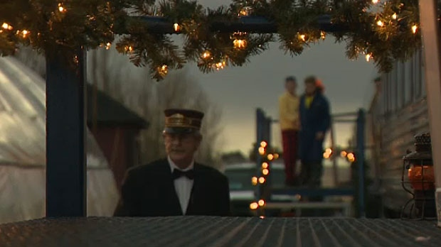 Dozens of families were able to take a special ride on Mossleigh's Polar Express on Thursday night.
