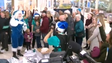 Surprise for WestJet passengers at Edmonton airpor
