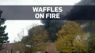 Belgian waffle factory goes up in flames