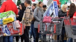 BJ's Wholesale Club members shop the retailer's Black Friday Savings Event on Friday, Nov. 24, 2017 in Northborough, Mass. (Josh Reynolds/AP Images for BJ's Wholesale Club)