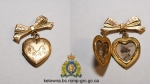 Mounties said the gold locket was mailed to them with a note saying it was found in Rutland years ago.