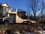St. Thomas police are investigating and RV fire.