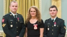 Windsor soldiers receive medals of bravery. (Courtesy: Sgt Johanie Maheu, Rideau Hall, OSGG)
