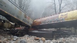This Canadian Pacific train derailed near Hells Gate, B.C. on Nov. 23, 2017.