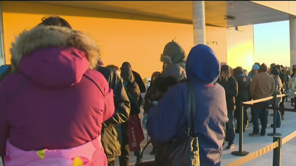 Thousands lined up outside Maritime stores to try and cash in on Black Friday deals.