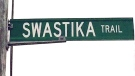 A sign for Swastika Trail in Puslinch Township, Ont. is seen in this undated photo. (B'nai Brith Canada)