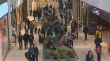 Several stores at Chinook Centre were offering between 30 and 50 percent off and shoppers arrived early to get in on door crasher  sales.