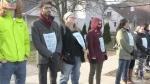 Rallying at Laurier in support of free speech