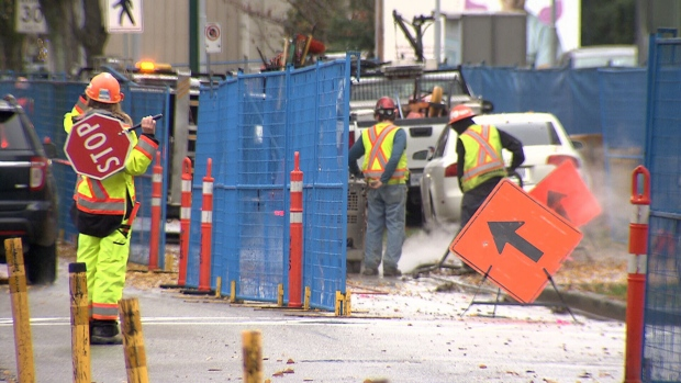 Some patients say construction on a new bike lane in the 10th Avenue medical corridor between Oak Street and Cambie Street is making it difficult to get to the doctor.
