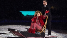 Shania Twain performs during the halftime show during the 105th Grey Cup between the Toronto Argonauts and the Calgary Stampeders Sunday November 26, 2017 in Ottawa. THE CANADIAN PRESS/Justin Tang