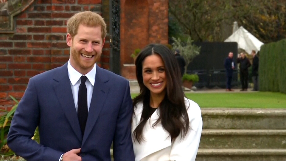 Prince Harry and Meghan Markle make an appearance in London, Monday, Nov. 27, 2017.