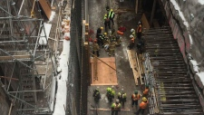 High angle rescue at Queen St. station