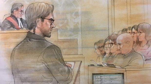 Dellen Millard provides evidence in his defence
