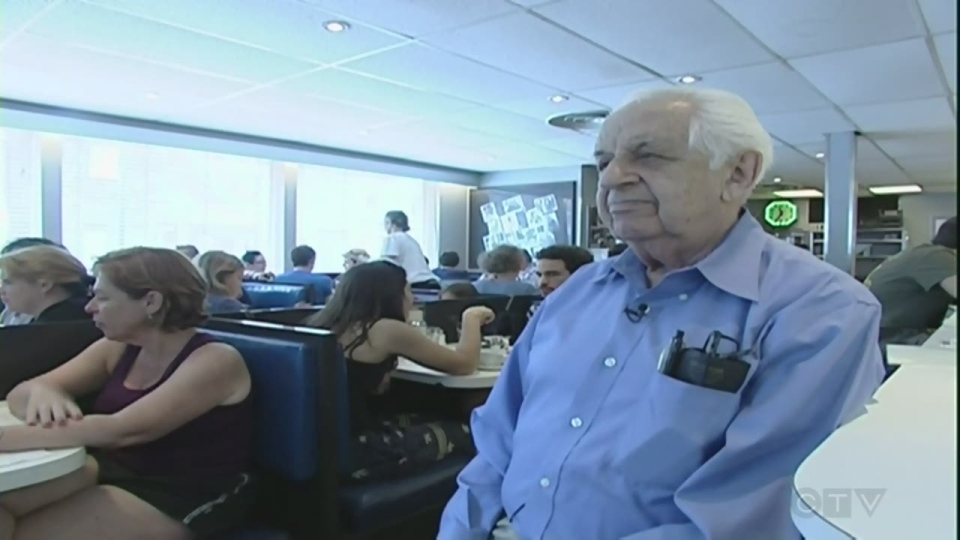 Hymie Sckolnick, seen here in 2011, has died at the age of 96