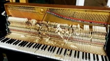 Damaged church piano