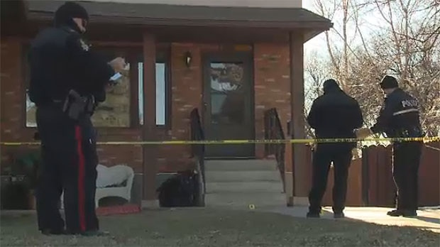 Lethbridge police cordon off a home where a man was found dead on Monday, November 27, 2017.