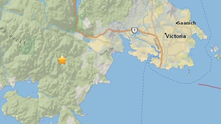 earthhquake felt near langford
