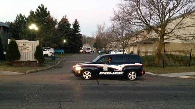 Police are investigating a shooting in Orangeville that left a man with critical injuries. (Cam Woolley/ CP24)
