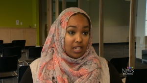 The president of Dalhousie's student union, Amina Abawajy, says she is aware of several incidents in which Muslim women have been targeted.