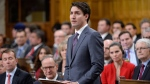 Prime Minister Justin Trudeau makes a formal apology to individuals harmed by federal legislation, policies, and practices that led to the oppression of and discrimination against LGBTQ2 people in Canada, in the House of Commons in Ottawa, Tuesday, Nov.28, 2017. THE CANADIAN PRESS/Adrian Wyld