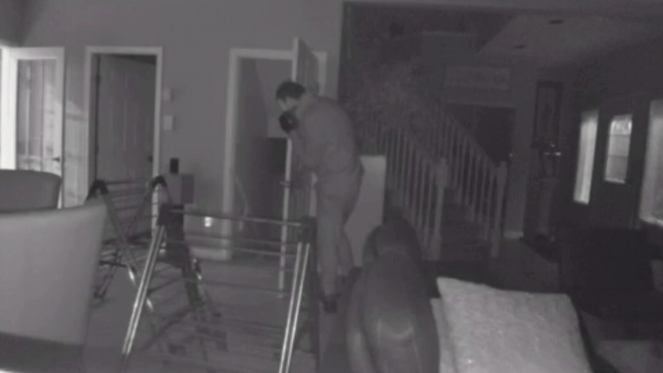 A home security camera captured thieves entering a home in Burnaby.