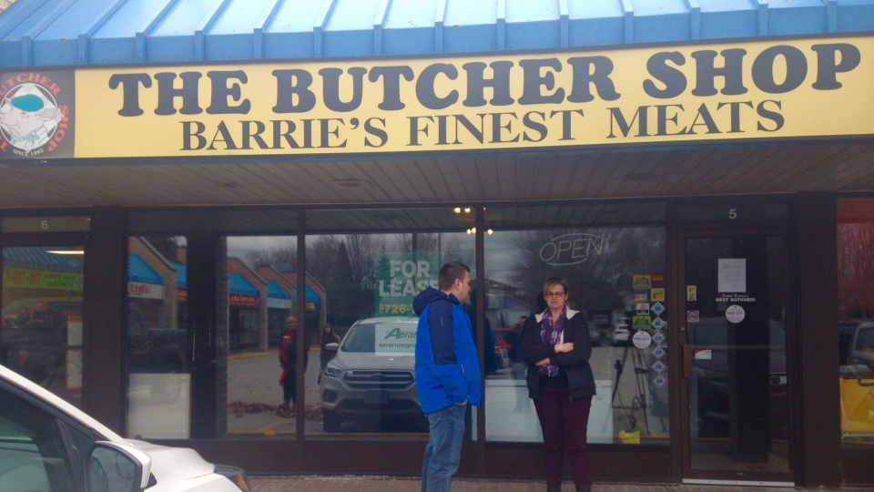The Butcher Shop in Barrie, Ont. is closing with owner Lawrence Vindum saying it is because of high hydro rates. (Mike Arsalides/ CTV Barrie)