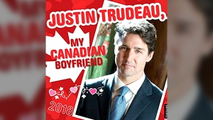 """Prime Minister Justin Trudeau is featured in the """"Justin Trudeau, My Canadian Boyfriend 2018"""" wall calendar. (Amazon.com)"""