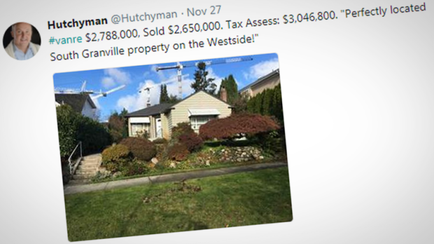 Vancouver realtor David Hutchison is using Twitter to showcase homes that sell below their assessed value, despite the region's hot housing market.