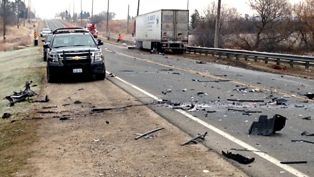 1 dead after head-on collision with tractor-trailer in Brampton