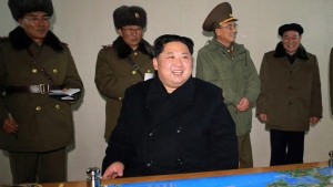 Kim Jong Un inspects the Hwasong-15 missile test