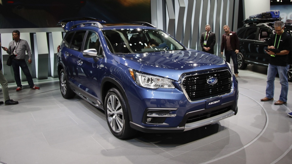 The 2019 Subaru Ascent at the Los Angeles Auto Show, on Nov. 29, 2017, in Los Angeles. (Jae C. Hong / AP)