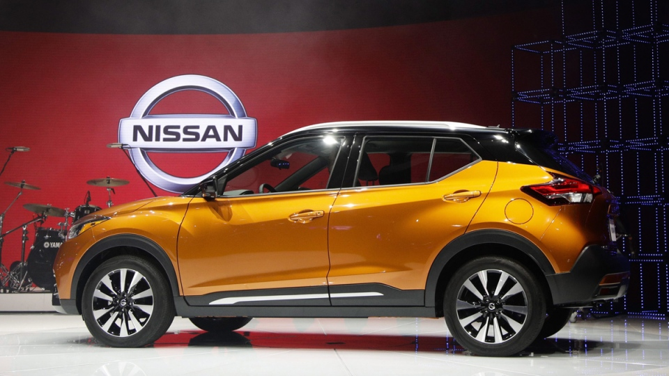 The 2018 Nissan Kicks compact crossover at the Los Angeles Auto Show, on Nov. 29, 2017. (Jae C. Hong / AP)