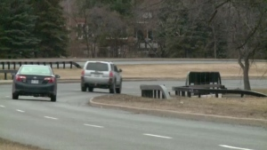 The woman was jogging along the Sir John A. Macdonald Parkway in Ottawa's Westboro neighbourhood when she was filmed.