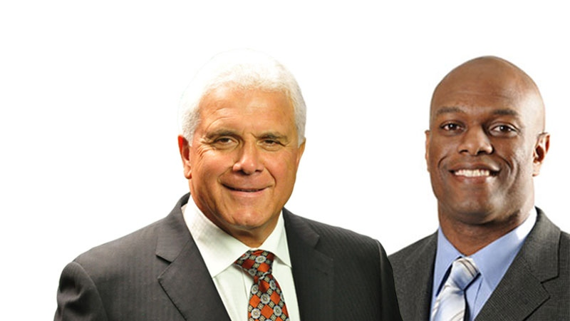 Wally Buono, left, announced Ed Hervey, right, will be his successor as general manager of the BC Lions. (BC Lions)