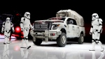 """The """"Star Wars""""-themed Nissan Titan custom truck is introduced during the Los Angeles AutoShow, Thursday, Nov. 30, 2017, in Los Angeles. (AP / Chris Carlson)"""