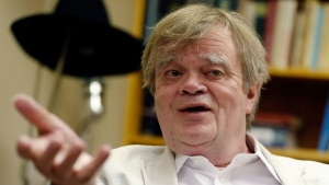 Garrison Keillor, creator and host of 'A Prairie Home Companion,' appears during an interview in St. Paul, Minn. on July 20, 2015. (AP Photo/Jim Mone)