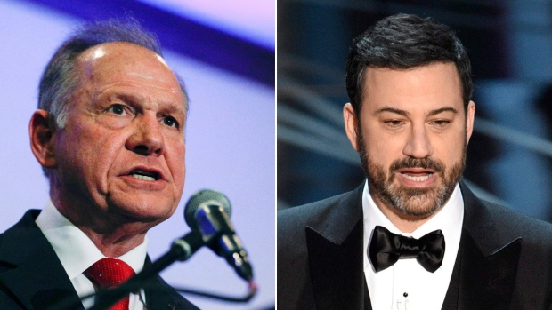 Roy Moore left and Jimmy Kimmel