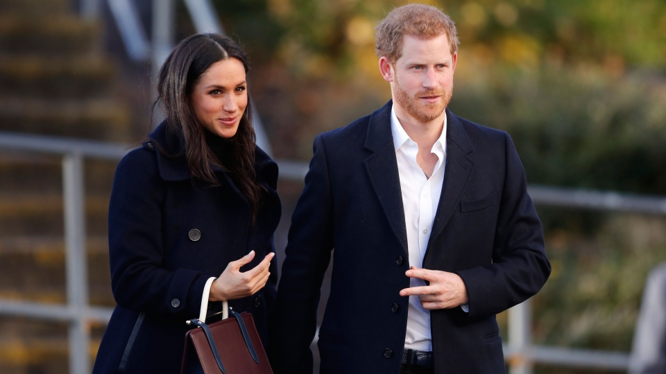 Meghan Markle wears Mackage coat in England