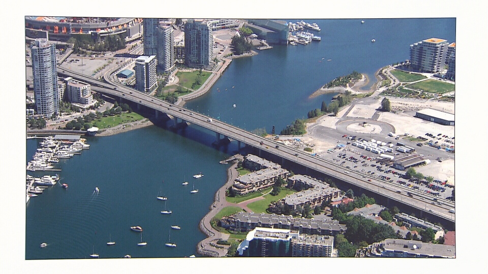 The City of Vancouver is considering adding a separated bike lane to the Cambie Street Bridge.