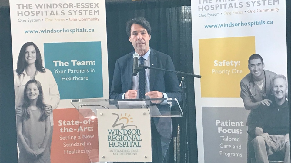 Minister of Health Eric Hoskins announced a new Windsor-Essex Regional Hospital is moving forward Friday, Dec. 1, 2017. (Angelo Aversa / CTV Windsor)