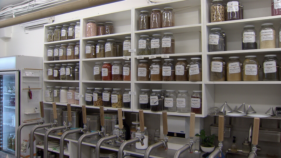The Soap Dispensary + Kitchen Staples offers package free grocery items. (CTV)