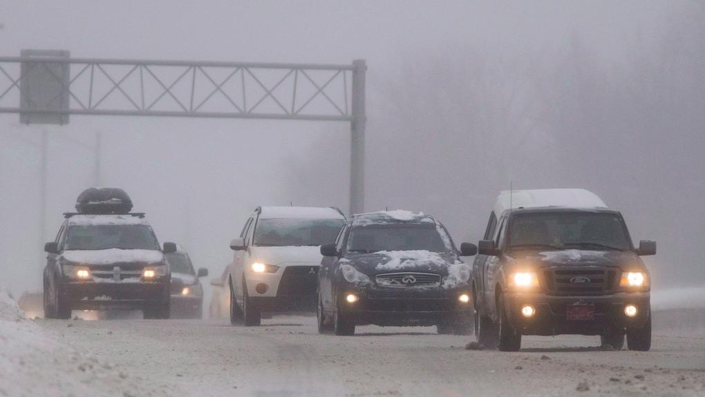 winter storm in Quebec